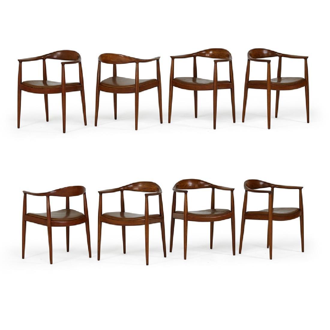 HANS WEGNER Set of eight The Chair