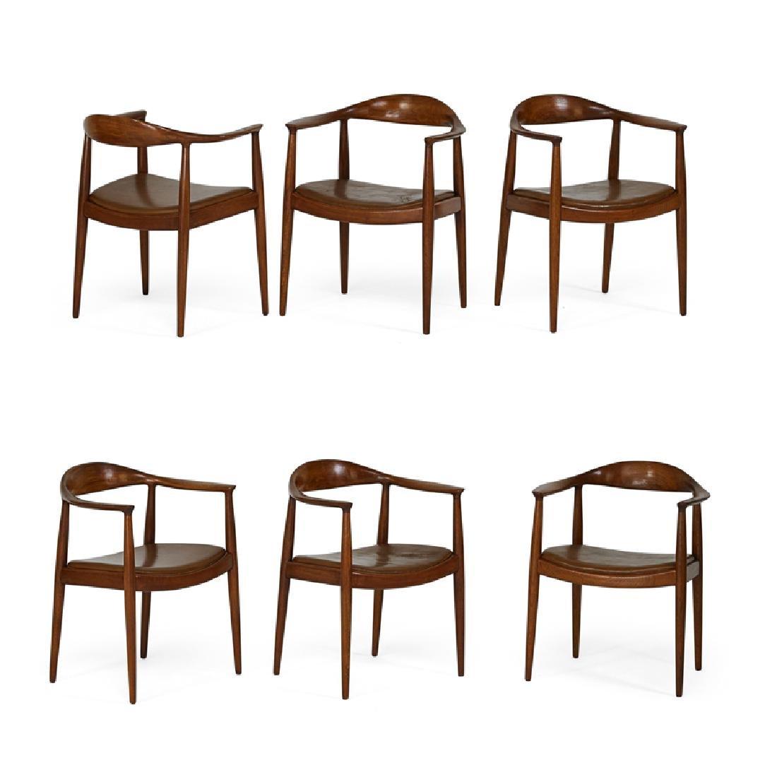 HANS WEGNER Set of six The Chair