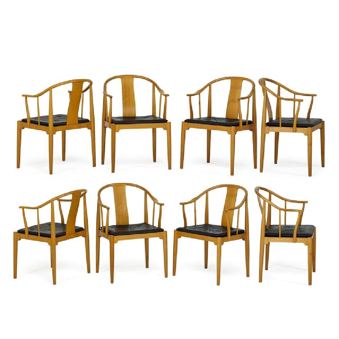 HANS WEGNER Set of eight China armchairs