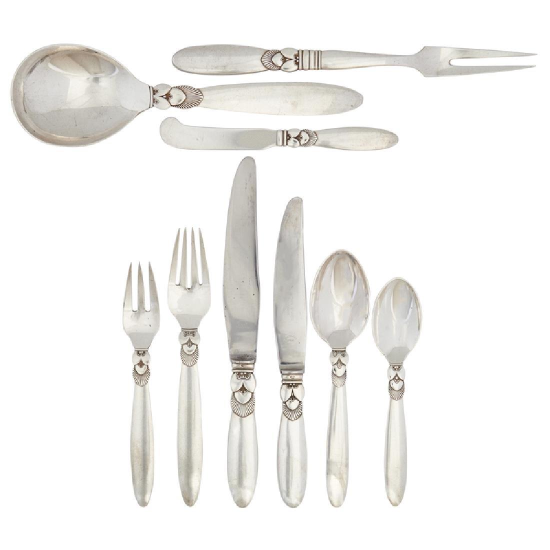 GEORGE JENSEN Assembled Cactus flatware set