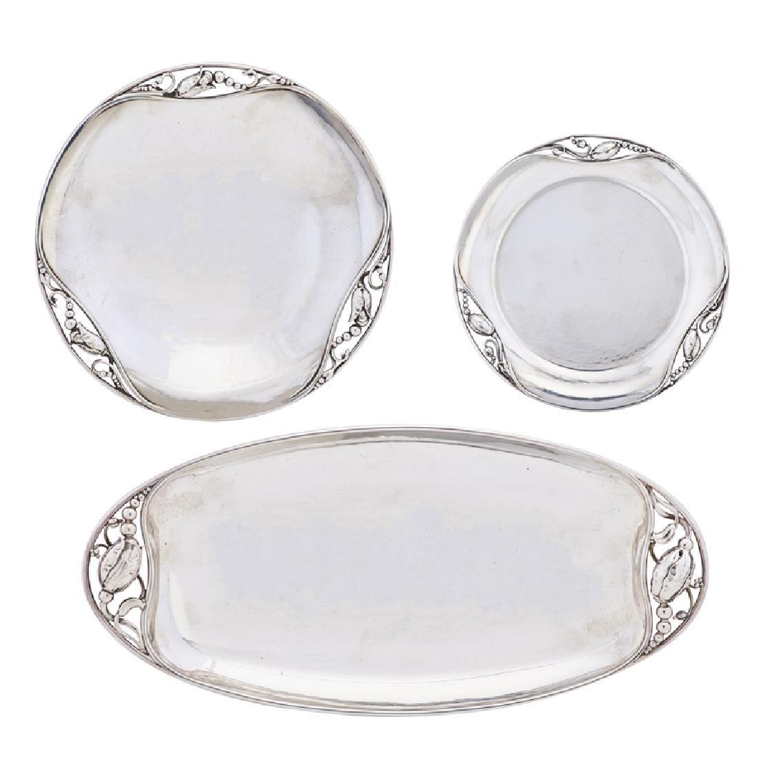 GEORG JENSEN Blossom bowls, plate