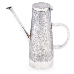 GERALD BENNEY Sterling silver coffee pot
