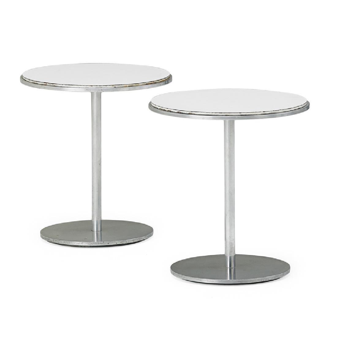 DAVID ALLEN; WARD BENNETT Pair of side tables