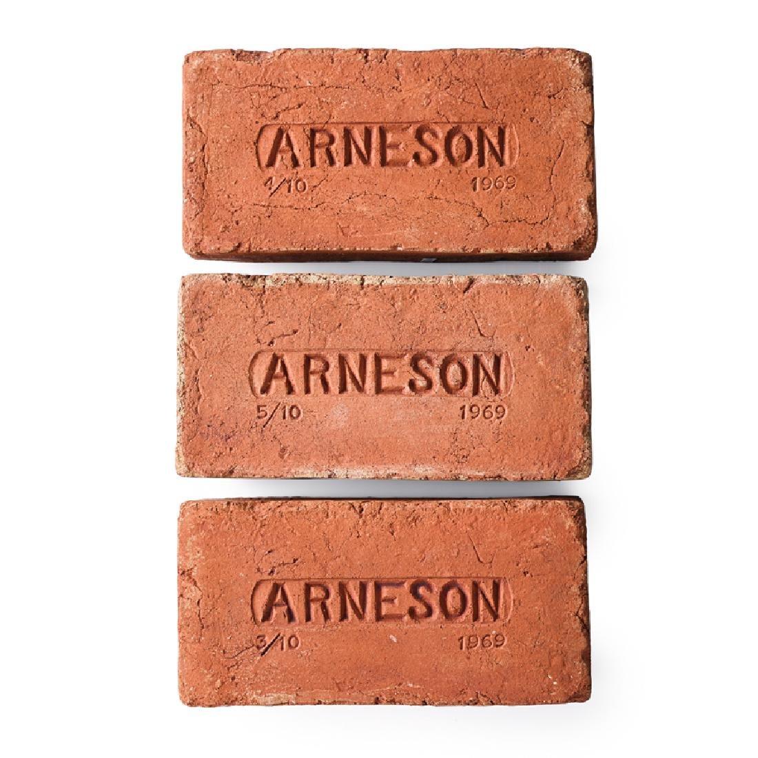 ROBERT ARNESON Three brick sculptures