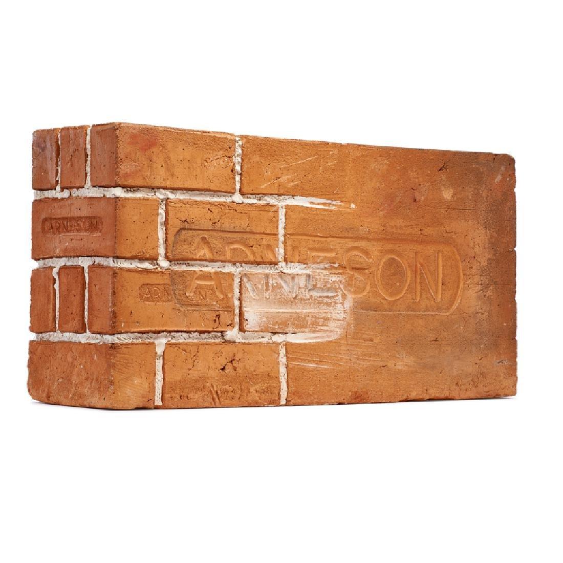 ROBERT ARNESON Massive brick sculpture