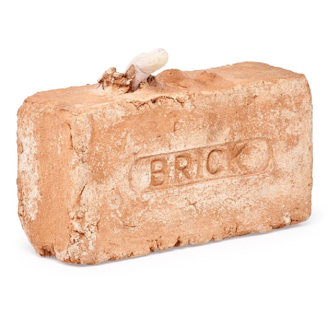 ROBERT ARNESON Brick sculpture