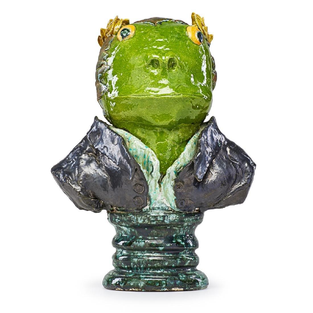 DAVID GILHOOLY Frog bust (Napoleon Bonaparte)