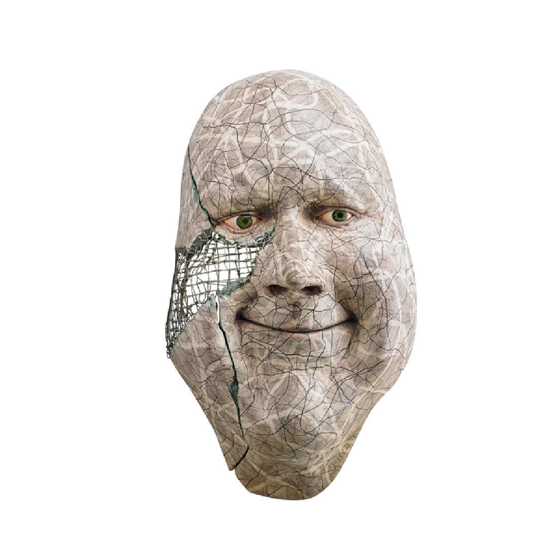 JOHN WOODWARD Large face sculpture