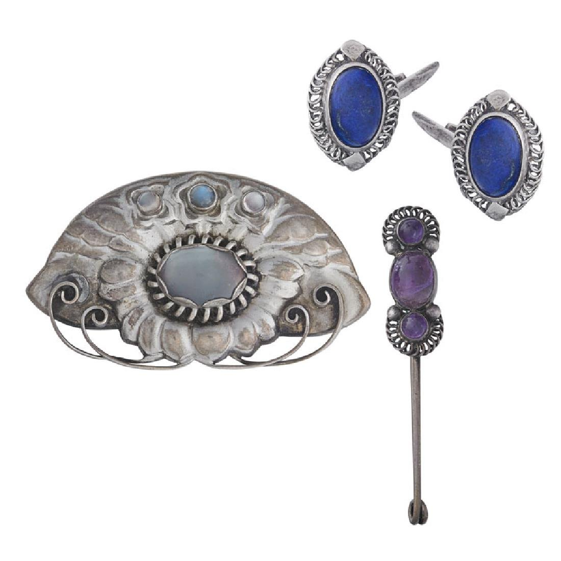 GEORG JENSEN EARLY SILVER JEWELRY, ASHBEE INFLUENCES