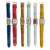 SIX VINTAGE GOLD OR GOLDFILLED WRISTWATCHES
