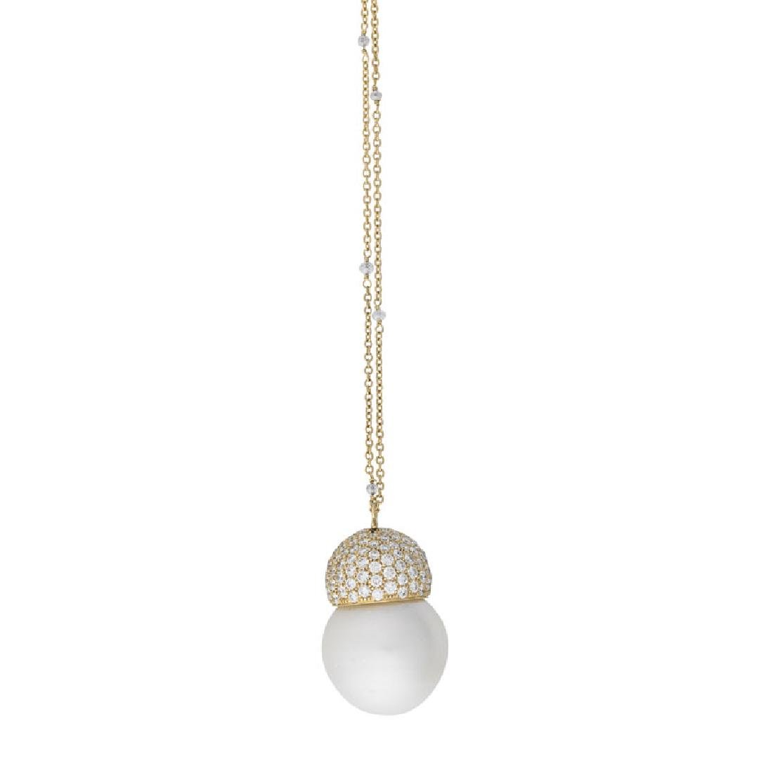 SIDNEY GARBER 'YUTA' SOUTH SEA PEARL, DIAMOND NECKLACE