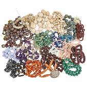 HARDSTONE BEADS FROM THE ESTATE OF A JEWELER