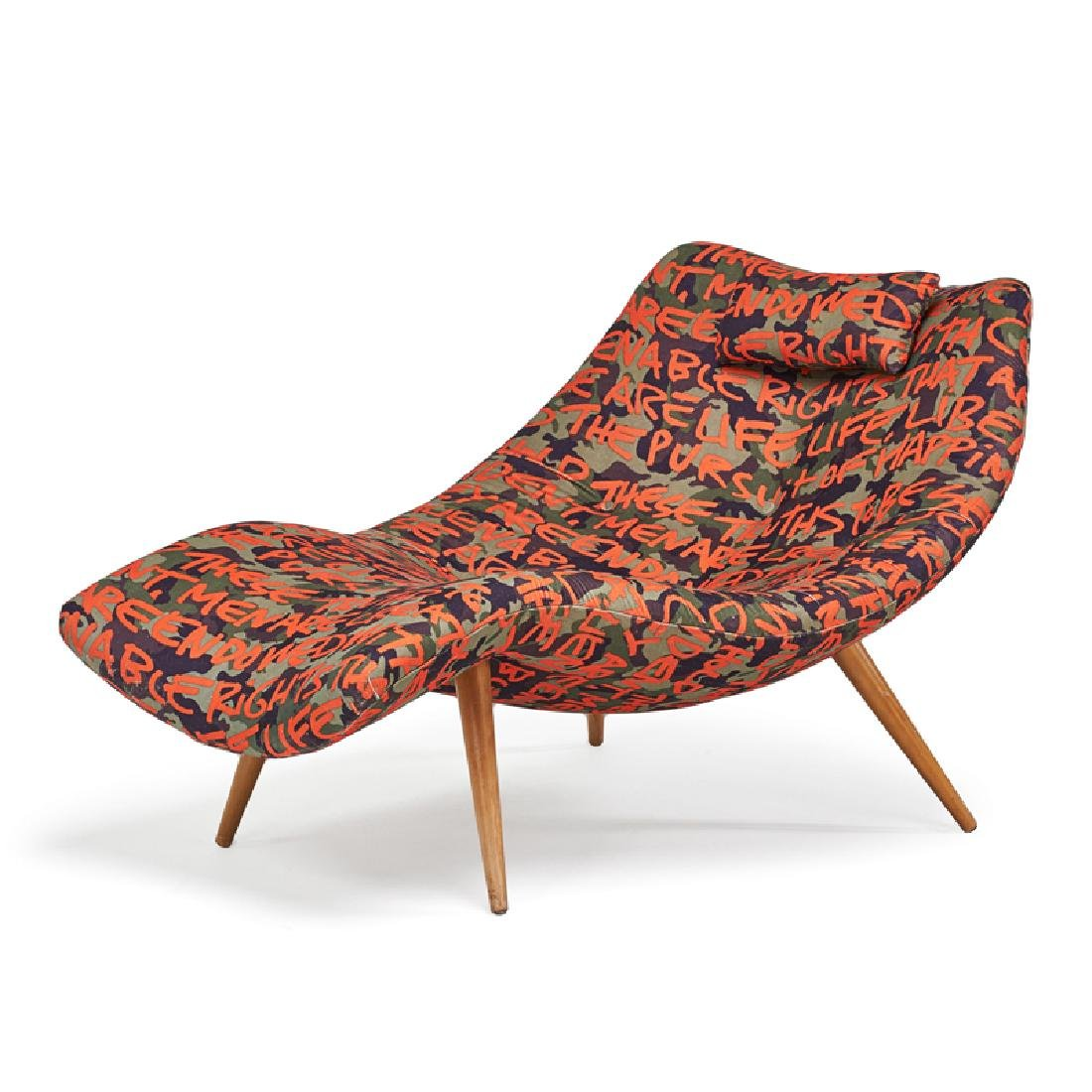 ADRIAN PEARSALL (attr.) LOUNGE CHAIR