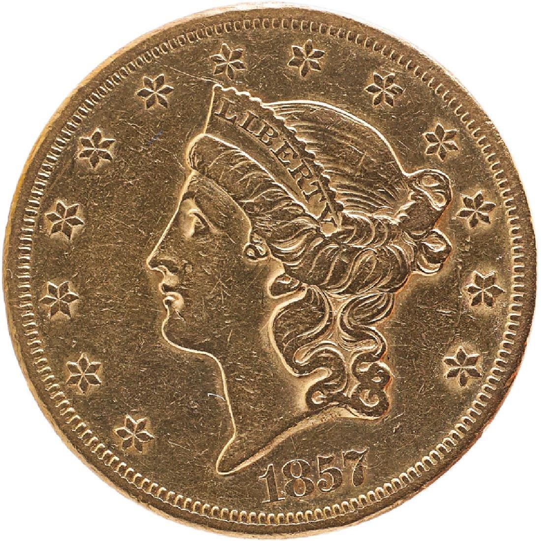 U.S. 1857-S LIBERTY $20 GOLD COIN