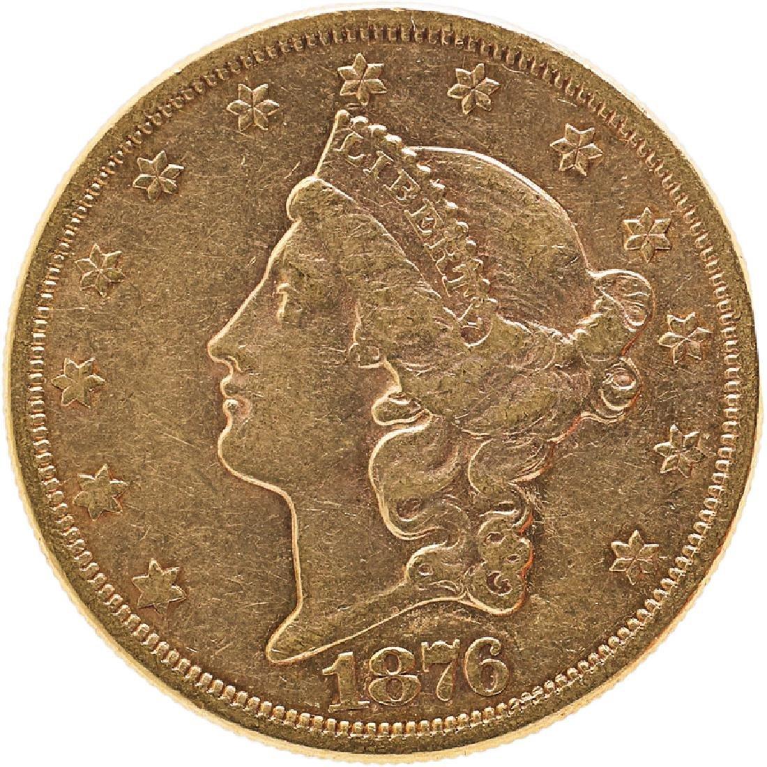 U.S. 1876-S LIBERTY $20 GOLD COIN