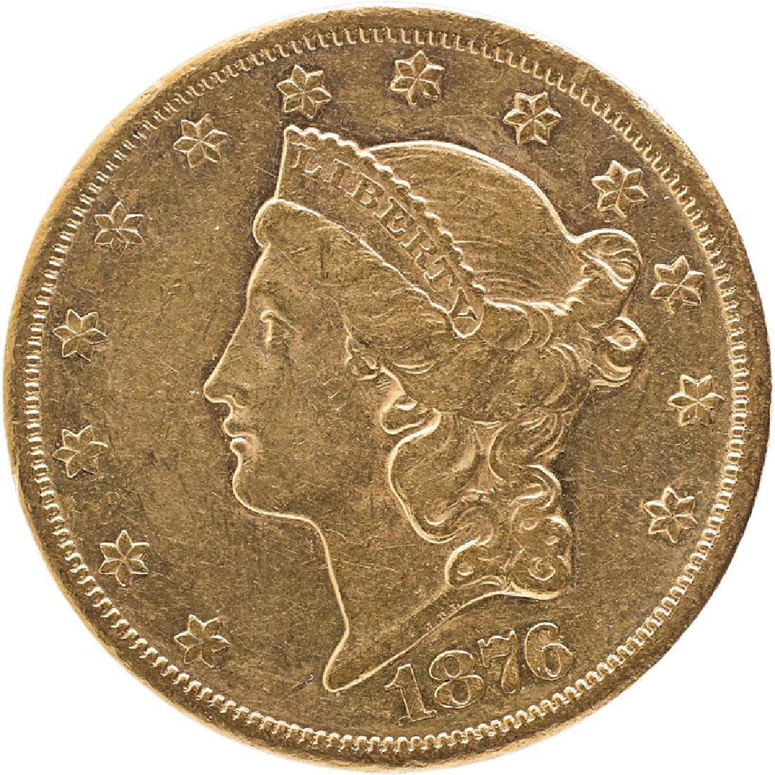 U.S. 1876-CC LIBERTY $20 GOLD COIN