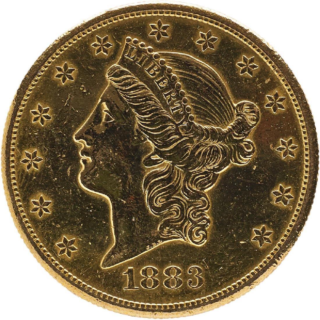 U.S. 1883-S LIBERTY $20 GOLD COIN