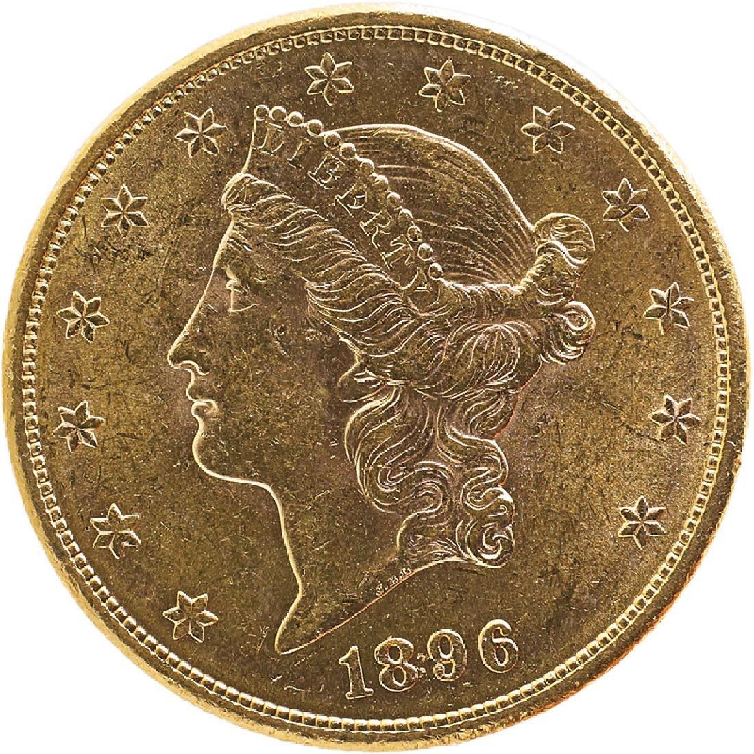 U.S. 1896-S LIBERTY $20 GOLD COIN