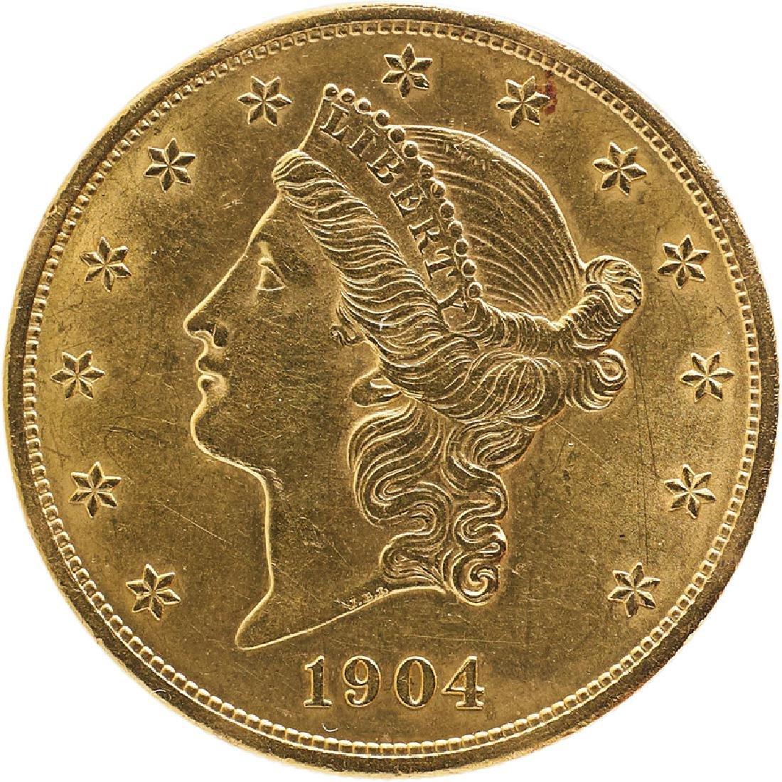 U.S. 1904 LIBERTY $20 GOLD COIN