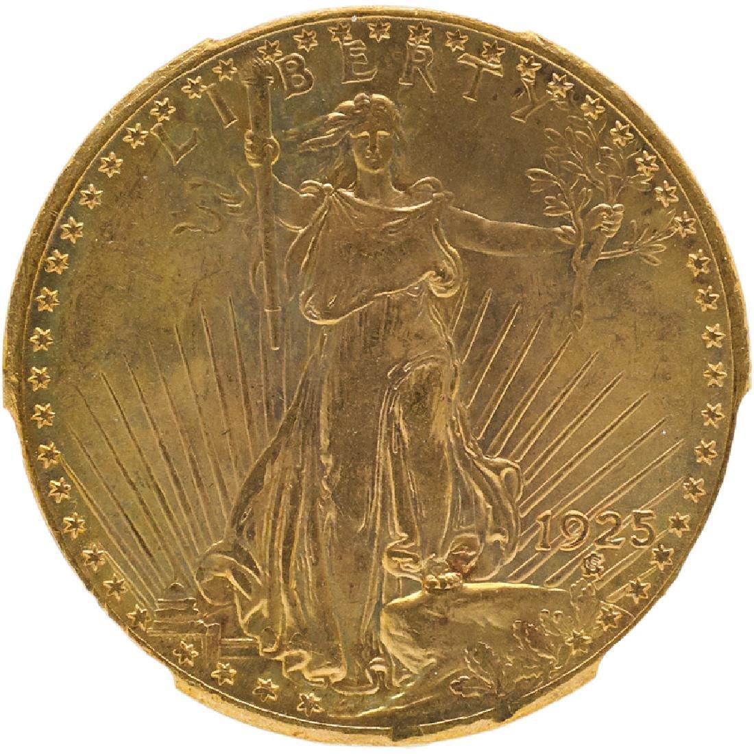 U.S. 1925 ST. GAUDENS $20 GOLD COIN