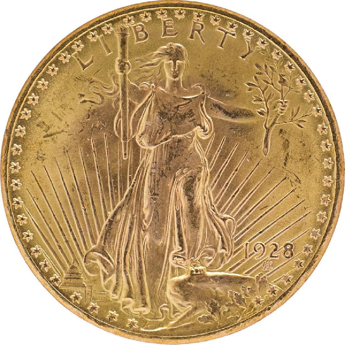 U.S. 1928 ST. GAUDENS $20 GOLD COIN