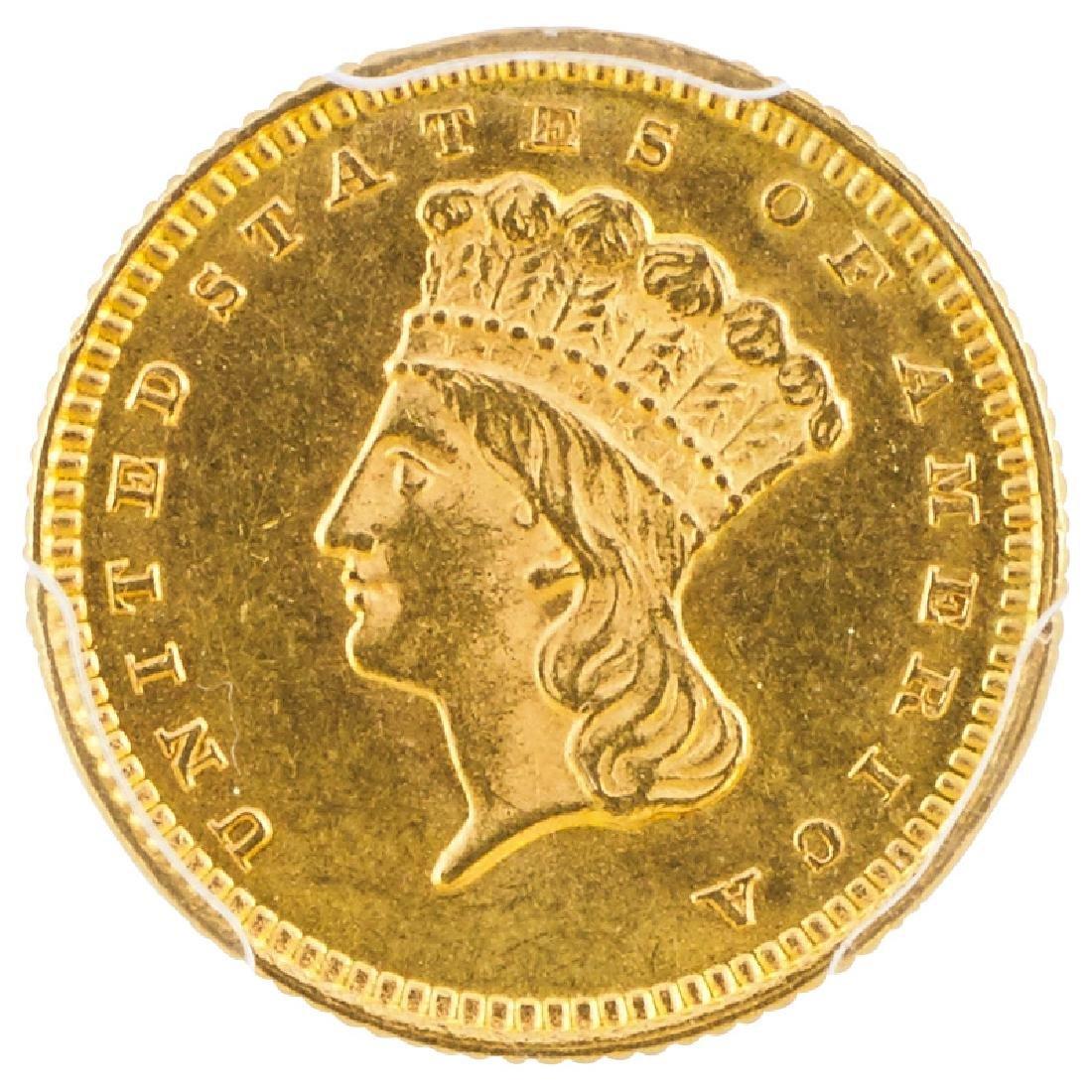 U.S. 1873 INDIAN PRINCESS $1 GOLD COIN
