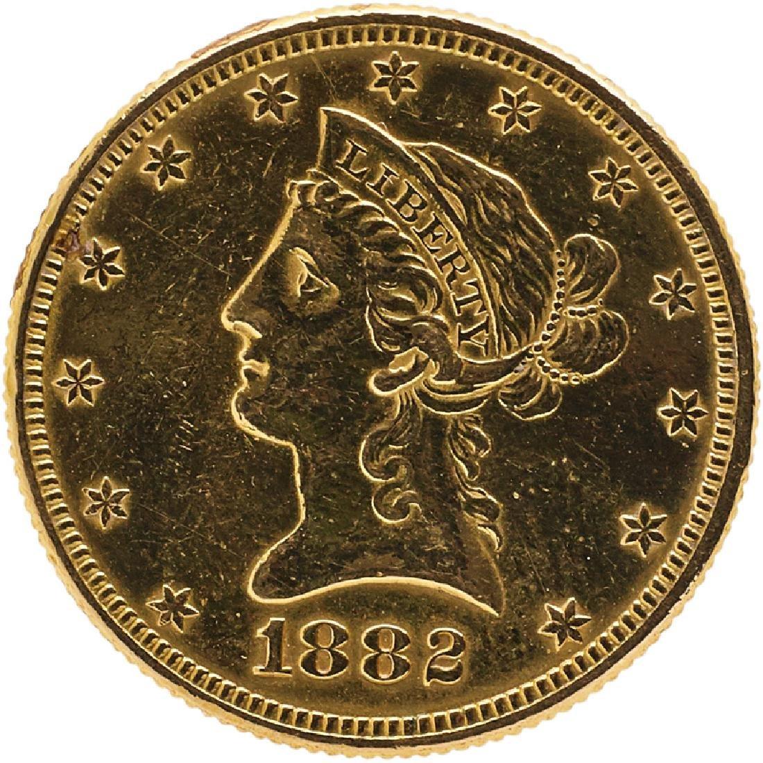 U.S. 1882 LIBERTY $10 GOLD COIN