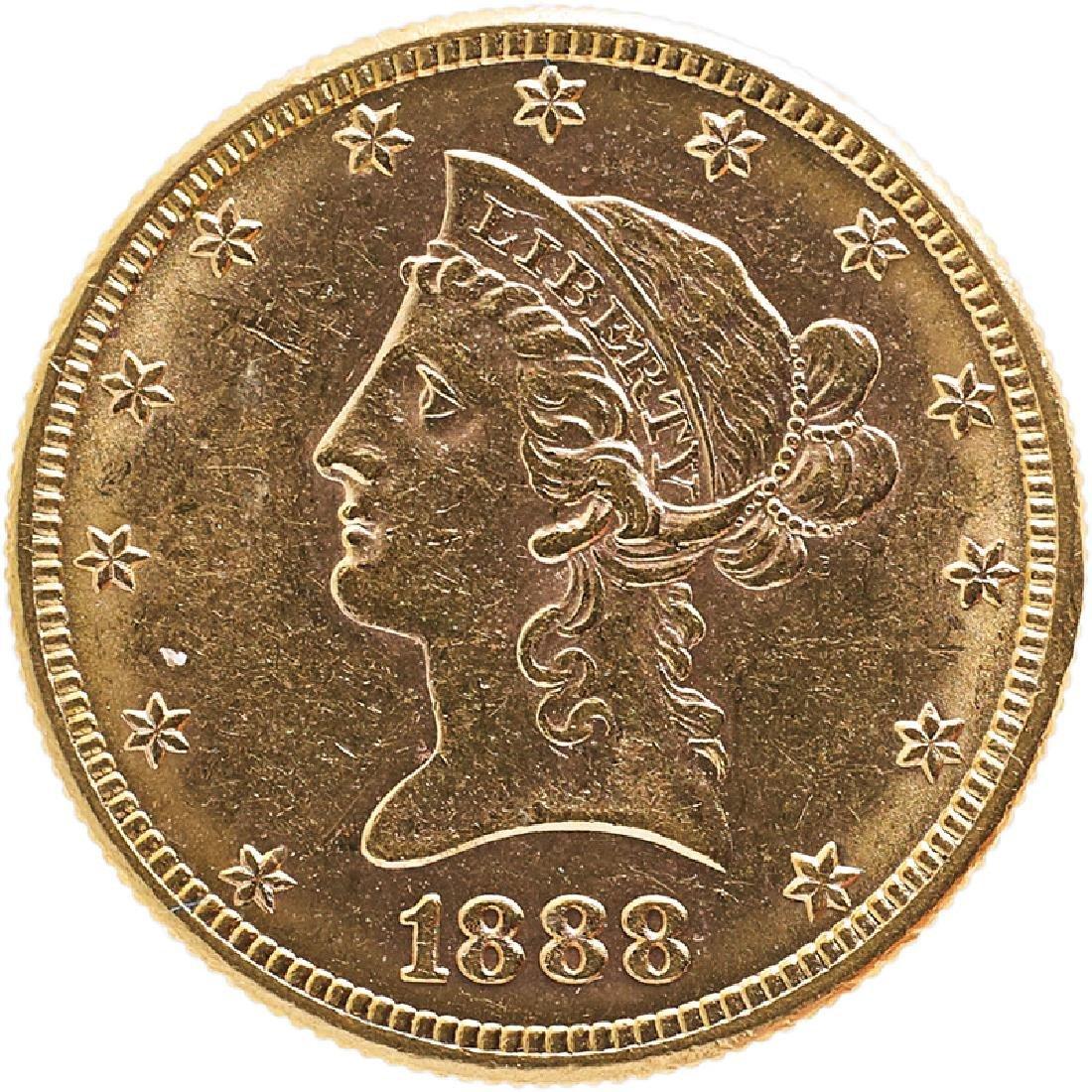 U.S. 1888-S LIBERTY $10 GOLD COIN