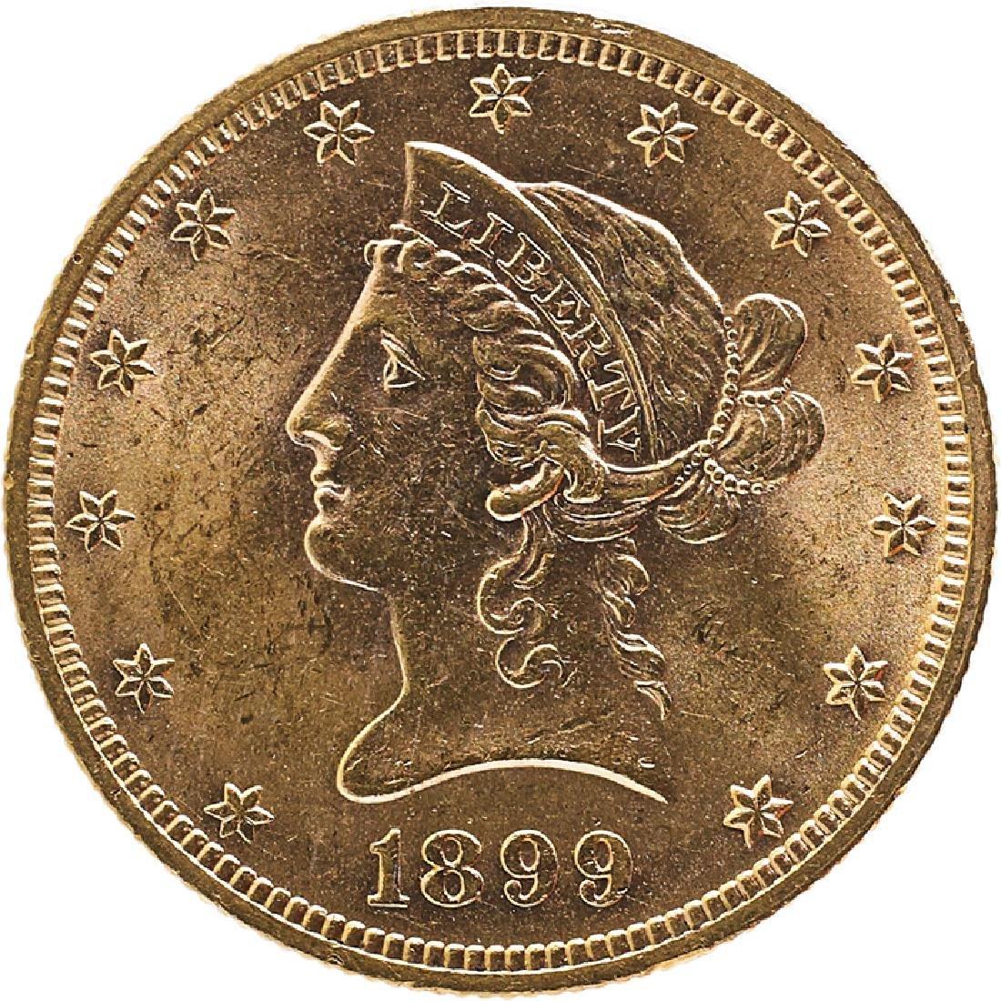 U.S. 1899 LIBERTY $10 GOLD COIN