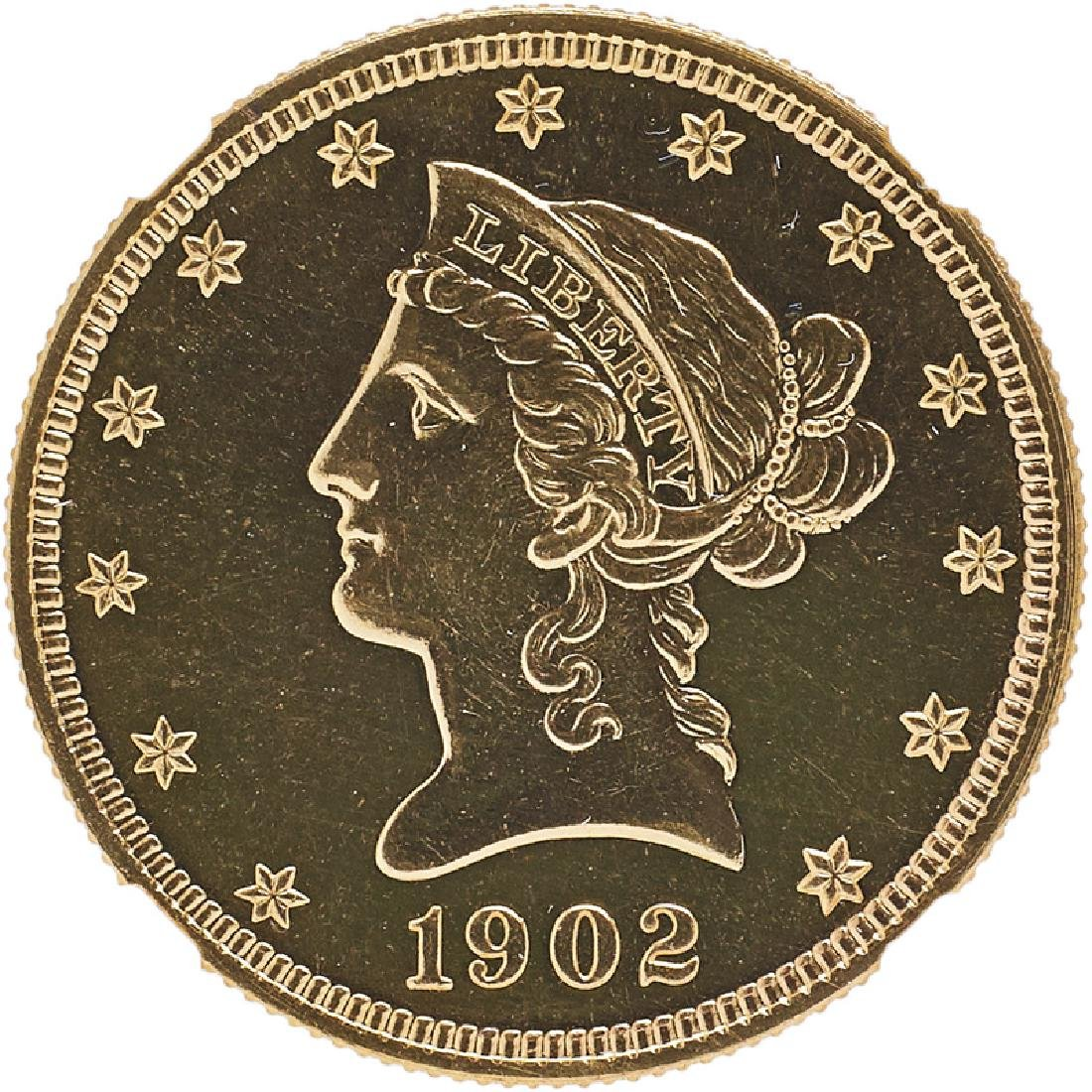 U.S. 1902 LIBERTY $10 GOLD PROOF COIN
