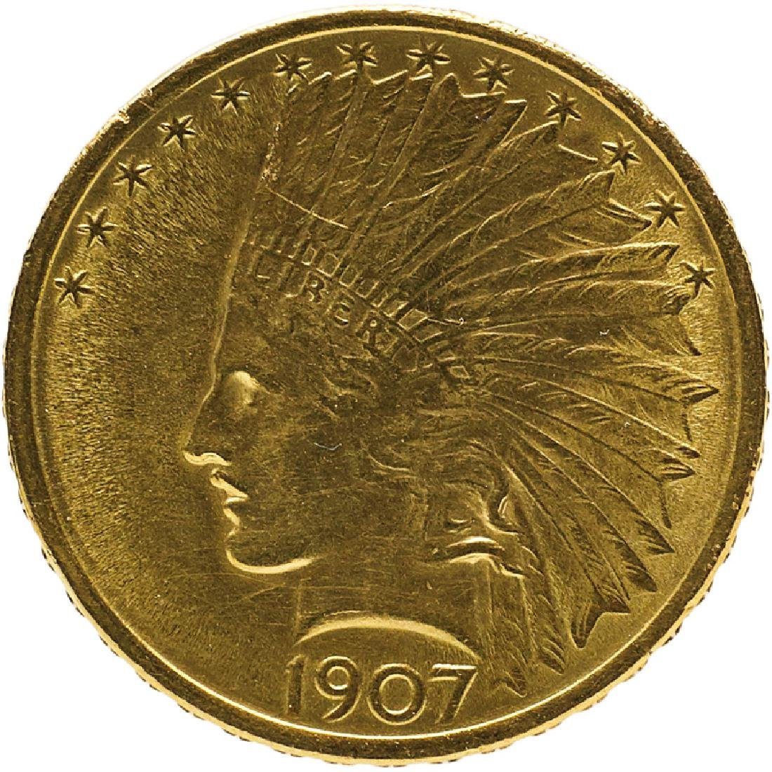 U.S. 1907 INDIAN $10 GOLD COIN