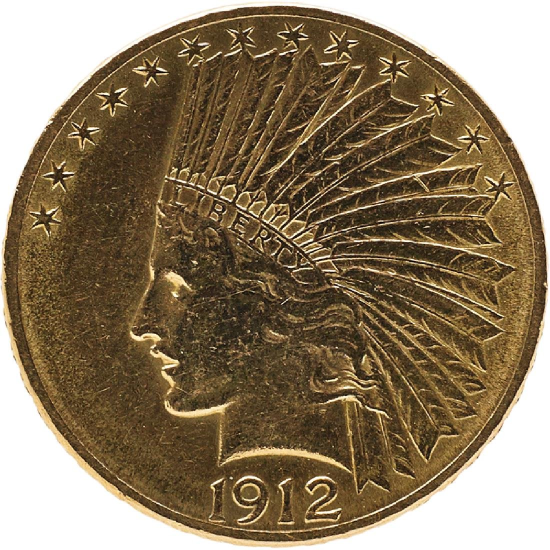 U.S. 1912 INDIAN $10 GOLD COIN