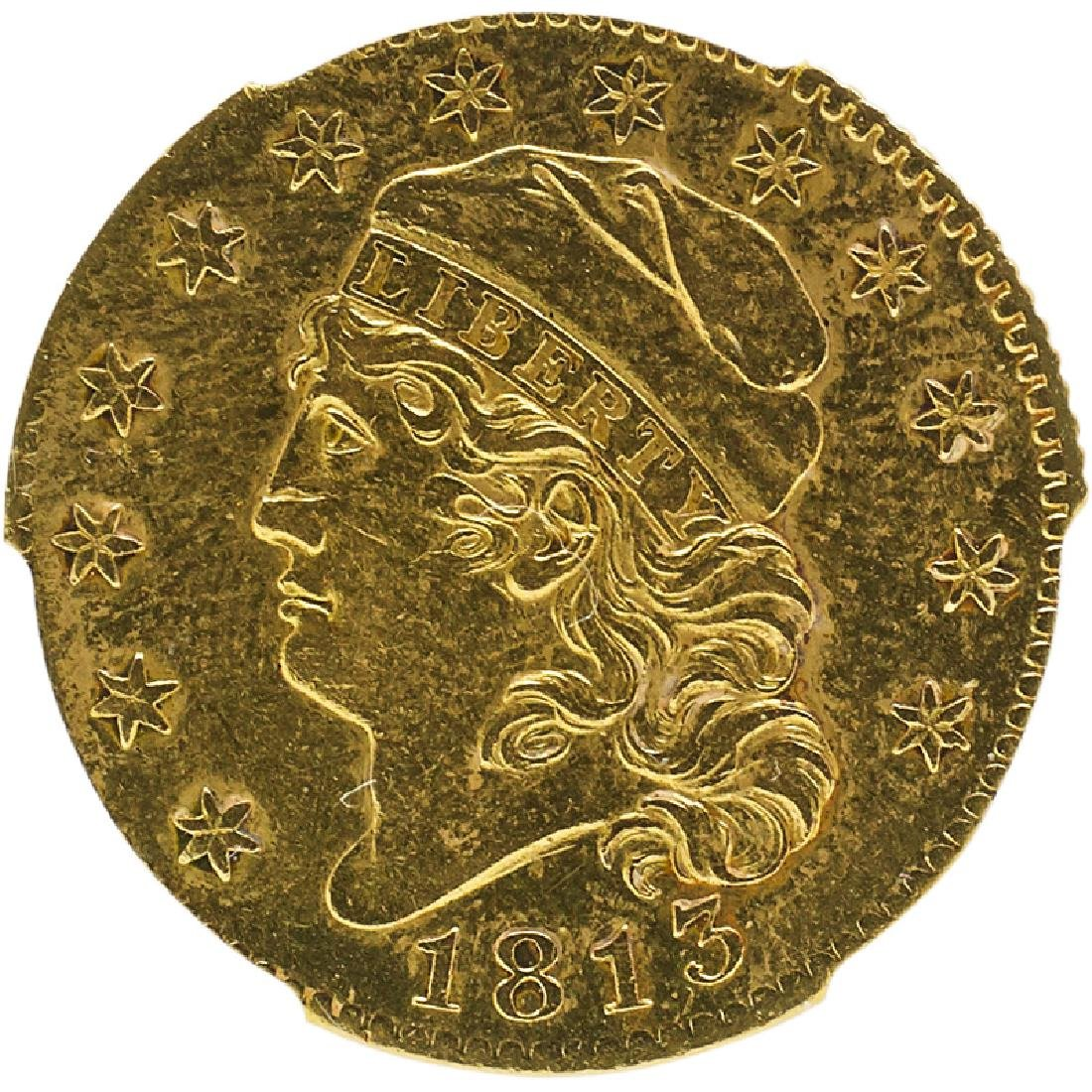 U.S. 1813 CAPPED BUST $5 GOLD COIN