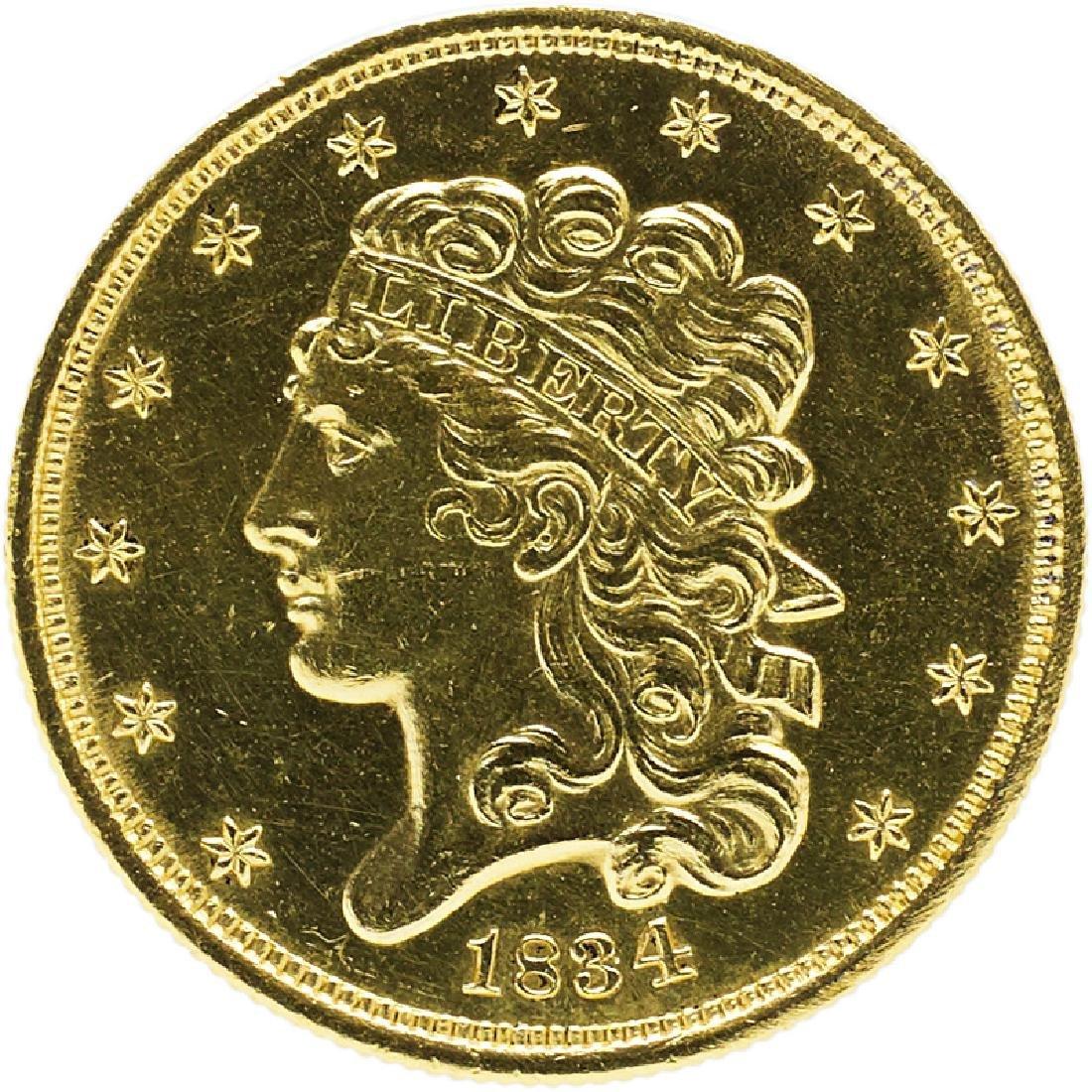 U.S. 1834 CLASSIC HEAD $5 GOLD COIN