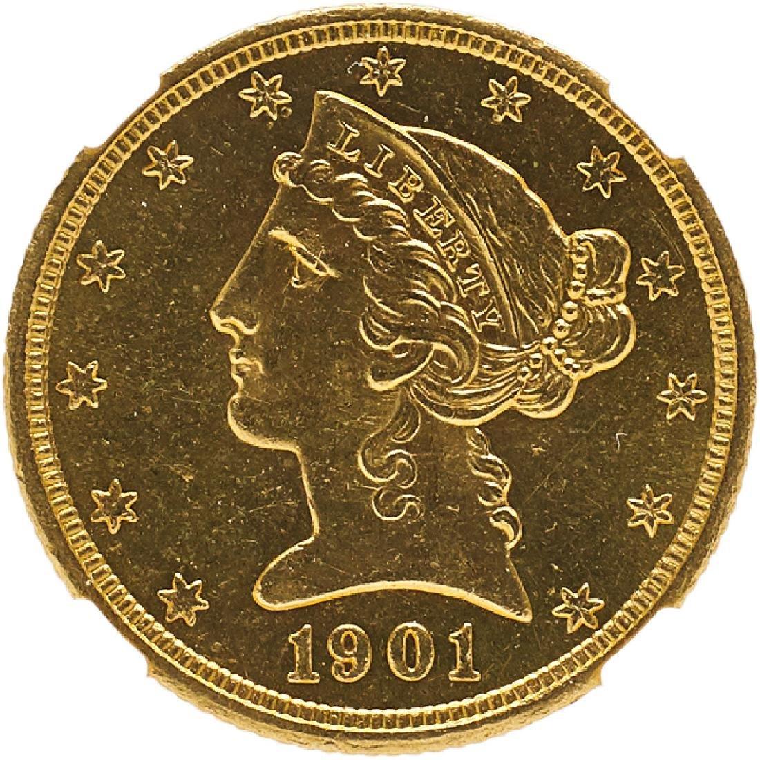 U.S. 1901-S LIBERTY $5 GOLD COIN