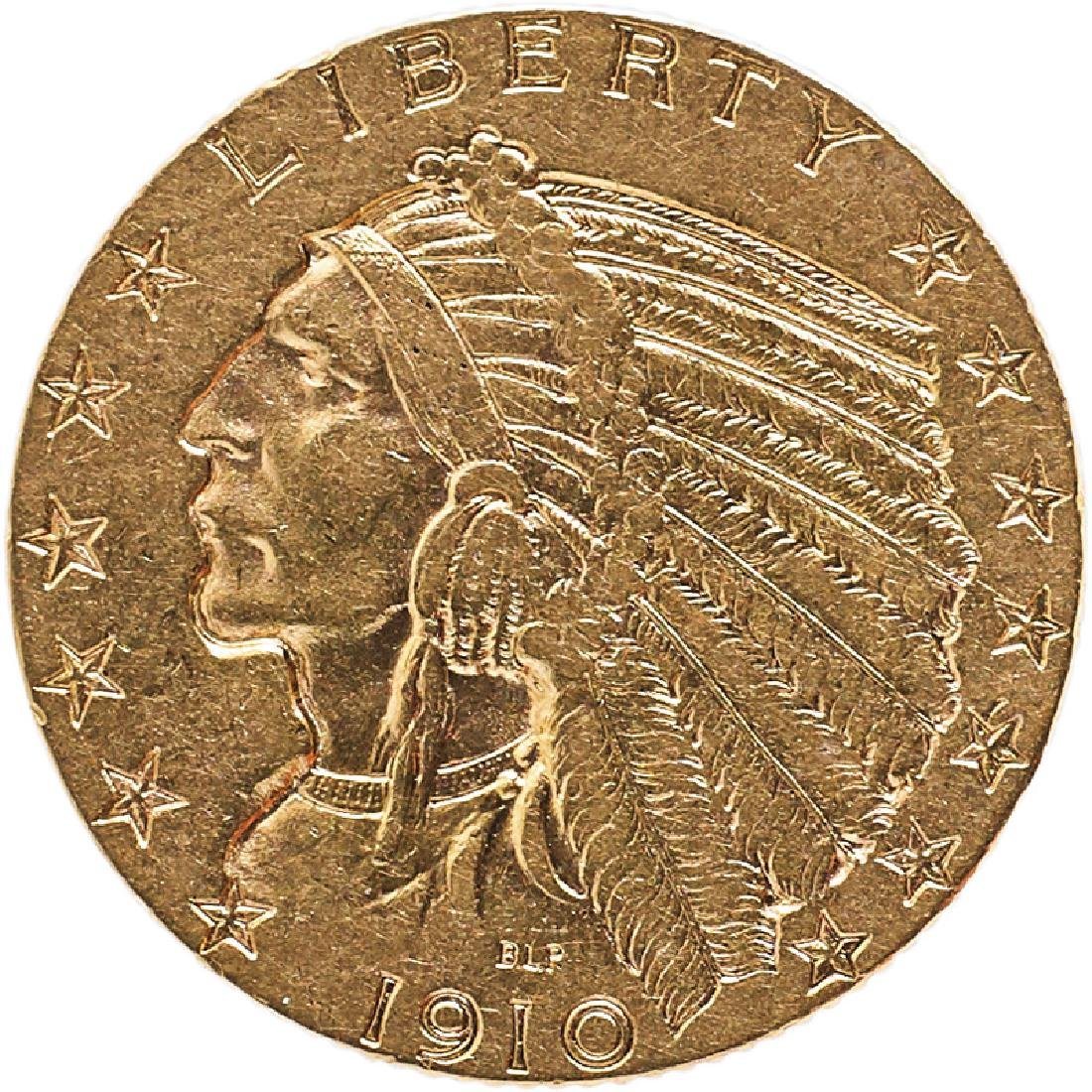 U.S. 1910-S INDIAN $5 GOLD COIN