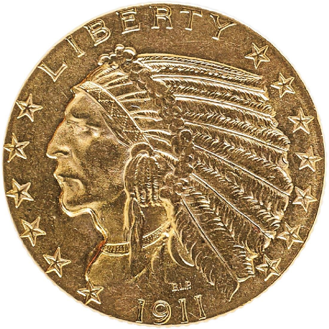 U.S. 1911 INDIAN $5 GOLD COIN