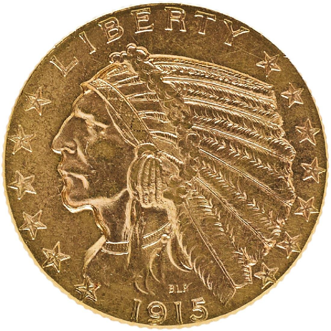U.S. 1915 INDIAN $5 GOLD COIN