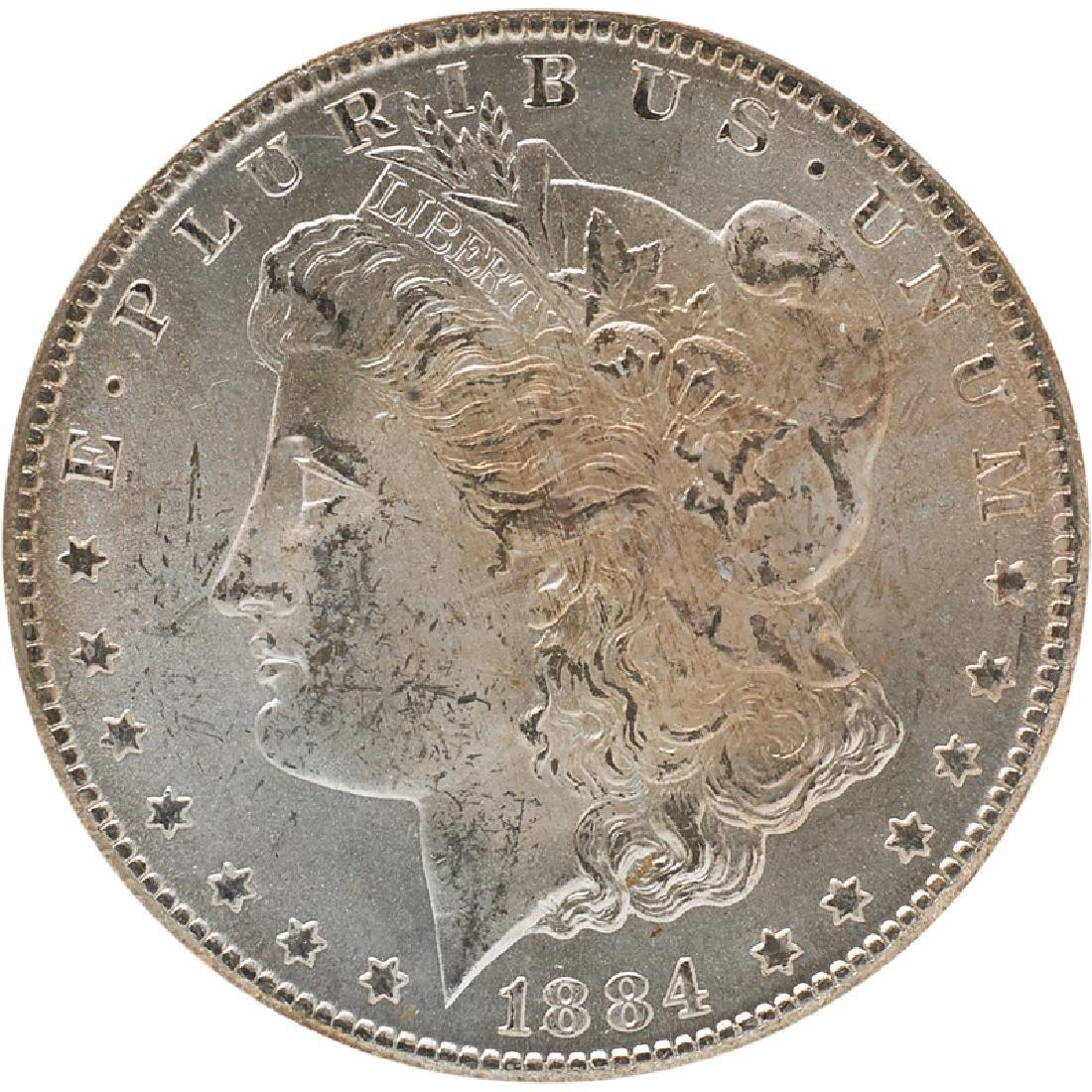 U.S. 1884-CC MORGAN $1 COIN