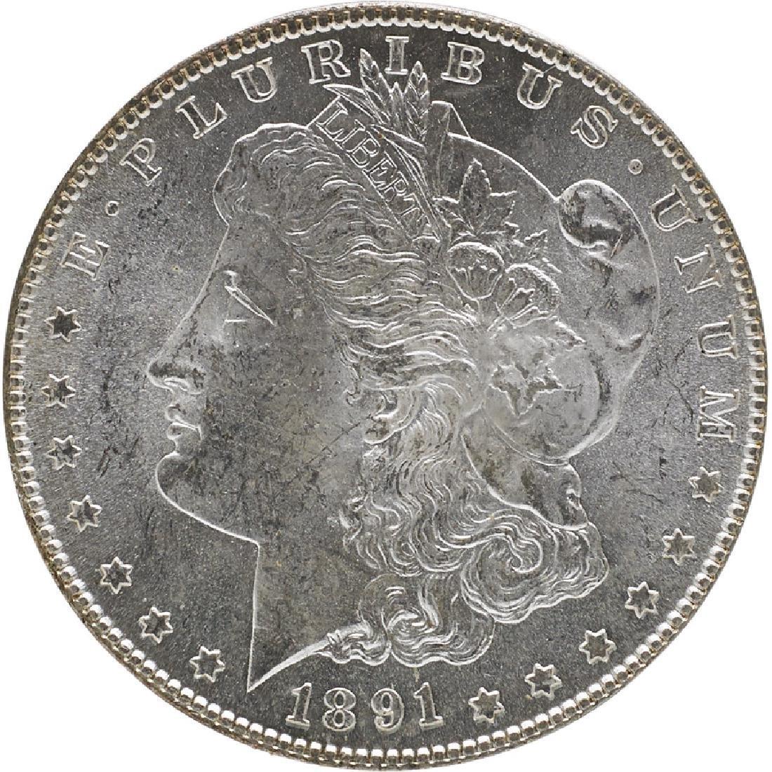 U.S. 1891-S MORGAN $1 COIN
