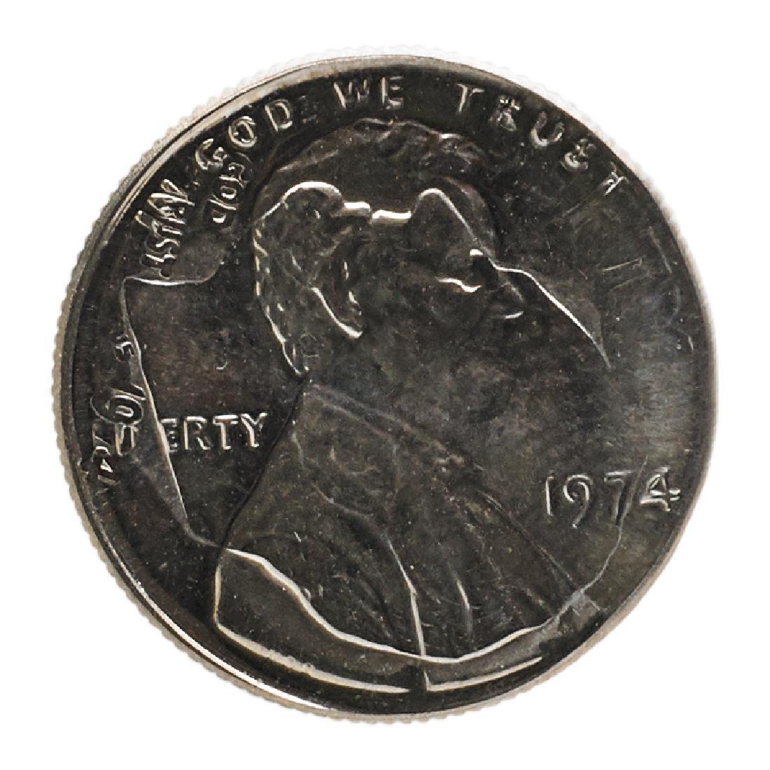 U.S. 1974 1C STRUCK ON 10C MINT ERROR COIN