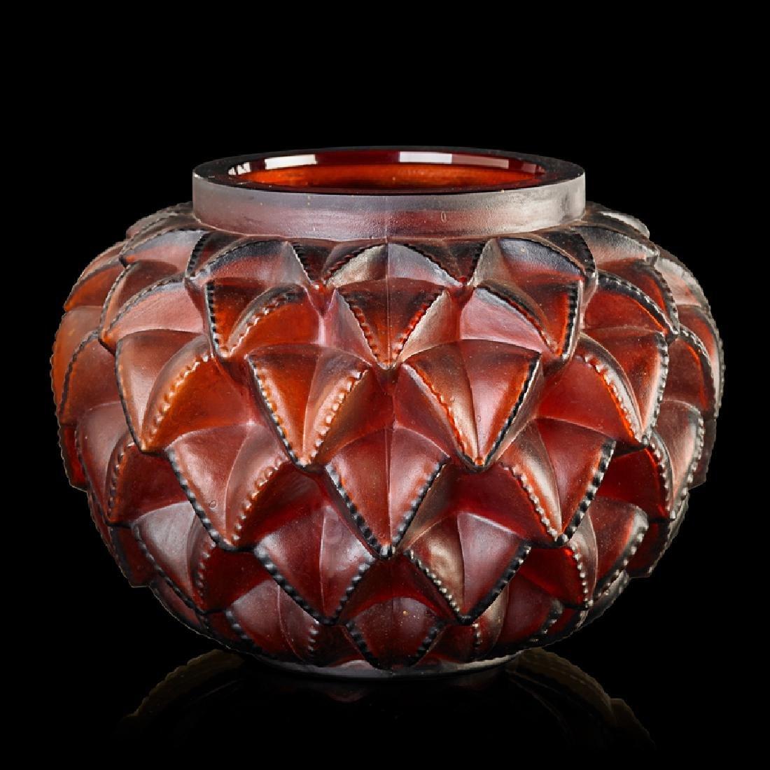 """LALIQUE """"Languedoc"""" vase"""