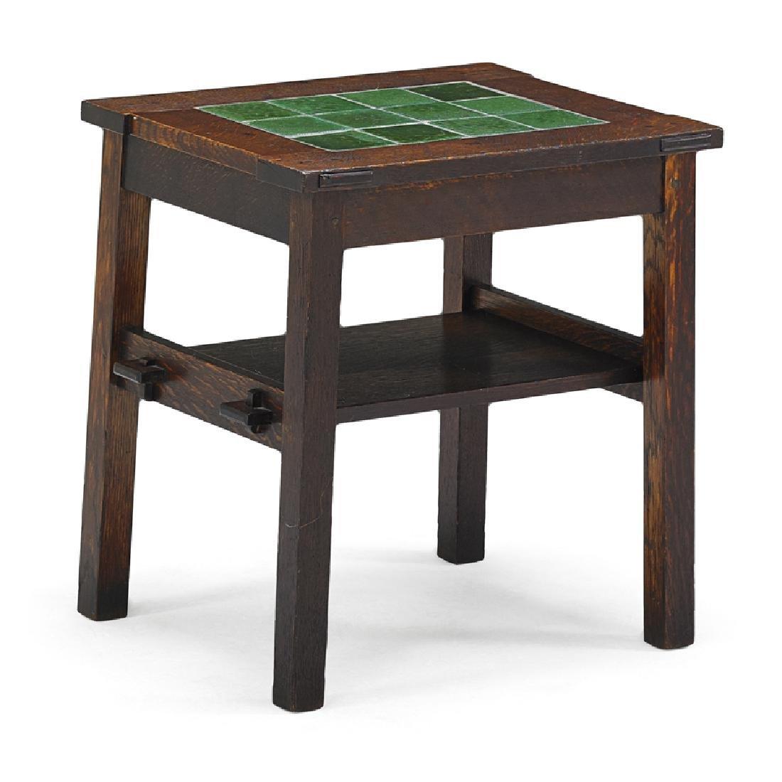 GUSTAV STICKLEY; GRUEBY Twelve-tile table
