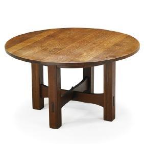 Delightful GUSTAV STICKLEY Game Table