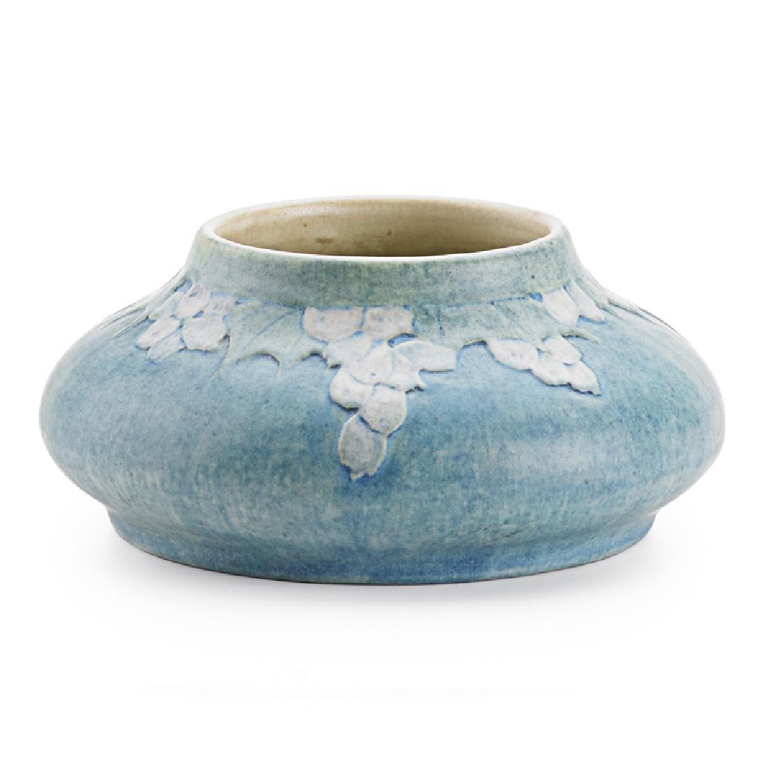 SADIE IRVINE; NEWCOMB COLLEGE Squat vase