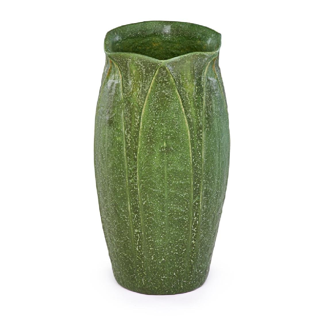 W. POST; GRUEBY Vase with leaves and buds