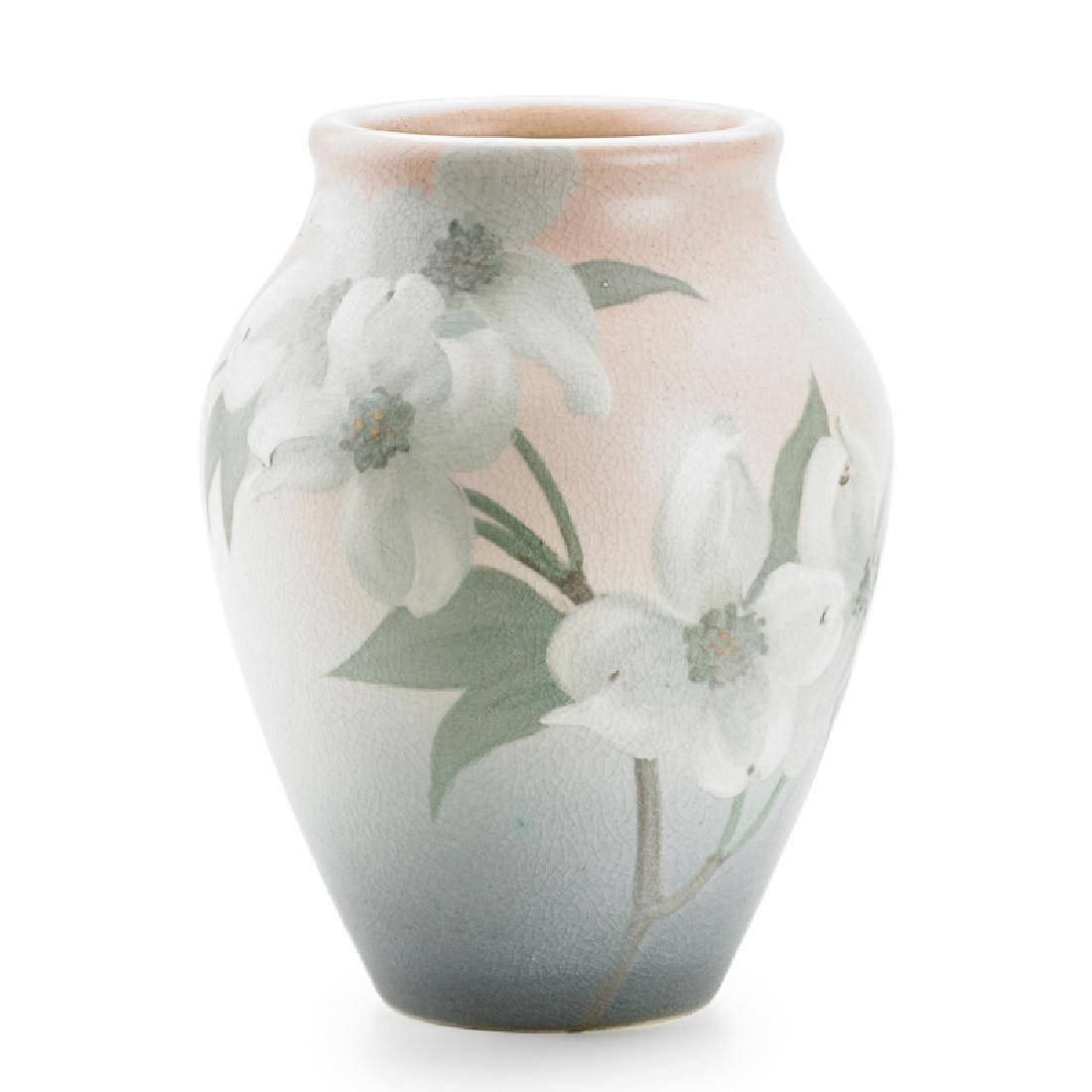 SARA SAX; ROOKWOOD Vellum vase