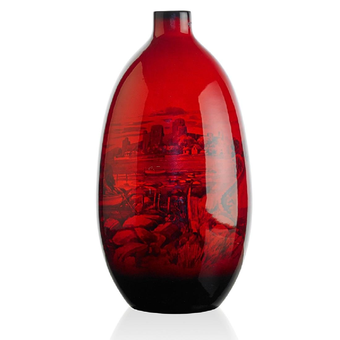 ROYAL DOULTON Large flambé vase