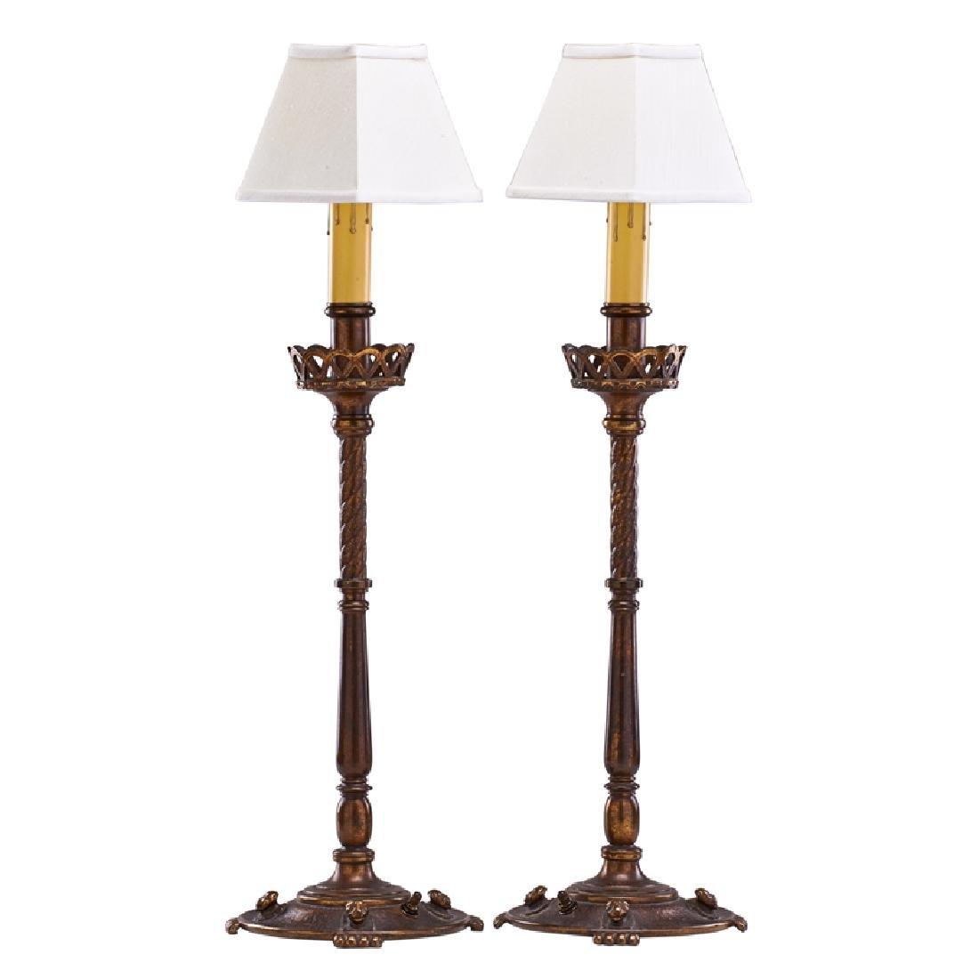 OSCAR BACH Pair of lamps