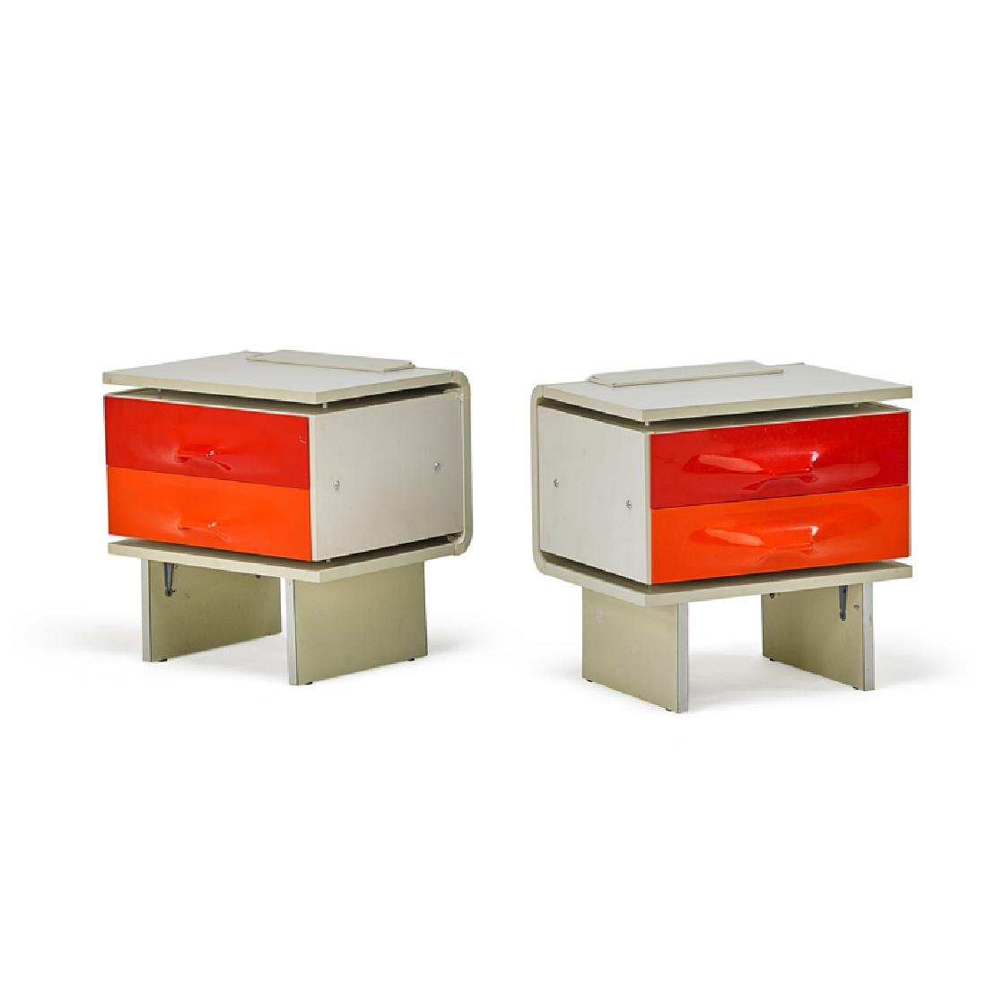 RAYMOND LOEWY Pair of nightstands